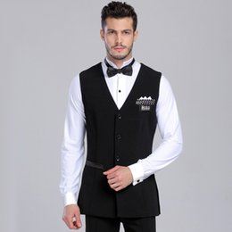 Wholesale Professional Ballroom Dancing - 2016 New Arrival Professional Mens Ballroom Shirts Black Stripe Vest Ballroom Dance Tops Jazz Waltz Latin Dance Top DQ7003