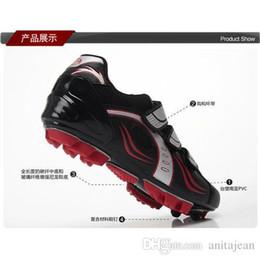 Wholesale Red Mountain Bike Shoes - 2015 Professional MTB Cycling Shoes Men Mountain Bike Sports Wear Breathable Bicycle Nylon-fibreglass Sole Shoes