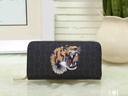 Wholesale United States Big - G new men and women Europe and the United States wallet long leather big buckle printed leather cashmere card mobile phone wallet