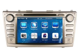 "Wholesale Toyota Camry Bluetooth Stereo - 8"" 2-Din Car DVD Player GPS Navigation for Toyota Camry 2007-2011 with Radio Bluetooth TV USB AUX Audio Video Stereo Nav Head Unit"