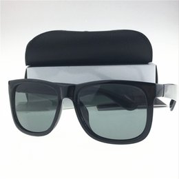 Wholesale Multi Color Frames Sunglasses - Sexy Fashion High quality women sunglasses brand designer justin sunglass men glasses Goggles Sunglasses with packaging for Driving