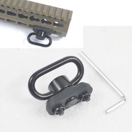 Canada Aluminium CNC 1.25 pouces bouton-poussoir QD sling swivel fit fit rail universel keymod cheap rail mount qd sling swivel Offre