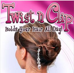 2019 favori all'ingrosso della farfalla Twist n Clip per capelli Clip Set di 5 pezzi Multifunzionale Magic Hair Clip Hair Hairset 1000set / lotto con scatola al minuto