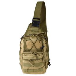 Wholesale Military Bag Hiking - Hotsale 9 Color 600D Outdoor Sports Shoulder Military Camping Hiking Tactical Bag Camping Hunting Backpack Utility Chest Bag
