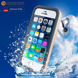 Wholesale Casing Ip5 - case market original For iPhone 5s Waterproof Case 6.6ft Underwater Slim Aluminum Metal Case life water Dirt proof Protective Cover for ip5