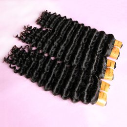 Wholesale Dip Dye Hair Extensions - Extra-Thick 8A Indian Virgin Hair Weaves Unprocessed human Hair Extensions weft Deep Wave Can dip dye Ombre hair