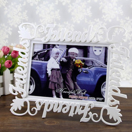 Wholesale European Picture Frames - European Letter Plastic Picture Hollow Frame Friends Photo Frames Home Decor Item Wedding Friendship Gifts Photo Studio Gift ZA4805