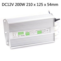 Wholesale Driver 12v - Free shipping AC110V 220V DC 12V 100W 150w 200w Led Outdoor Waterproof Transformer Led Driver Switch Power Supply Ip67