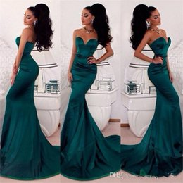 Wholesale Emerald Mermaid Prom Dress - Modern Emerald Green Evening Gowns 2016 Sweetheart Backless Sexy Mermaid Sweep Train Special Occasion Dresses Hot Sale Party Prom Dress
