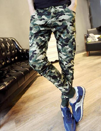 Wholesale Camouflage Pant Wide Leg - Mens Casual Pants Army Green Military Joggers Sports Trousers Camouflage Gym Compression Clothing Sweatpants