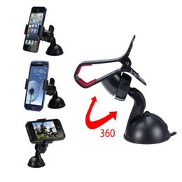 Wholesale Windscreen Cup Holder - Universal Suciton Cup Car Windscreen Mount Mobile Phone Holder Smartphone Holder for iphone 6S   6S Plus