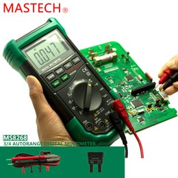 Wholesale Mastech Ms8268 Digital Multimeter - Wholesale-1pc MASTECH MS8268 Auto Range Digital Multimeter Full protection ac dc ammeter voltmeter ohm Frequency electrical tester