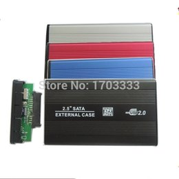 Wholesale free usb driver - High quality USB 2.0 SATA hard disk driver HDD case enclosure DHL Fedex free shipping