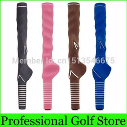 Wholesale Golf Grip Aid - Wholesale-KG-500 Taining Aids Golf Grip Handle Grip Natural Rubber Hand Grips For Beginners New Arrival