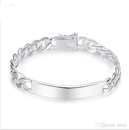 Wholesale Platinum Chains Men - Another selling silver jewelry silver bracelet men jewelry manufacturers supply international trade a generation of fat