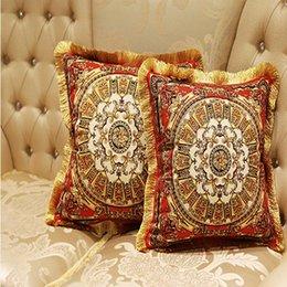 2019 almohada de fibra hueca BZ155 Funda de Cojín de Lujo Funda de Almohada Textiles para el hogar suministros Cojines de lujo de Europa Europea cojines decorativos silla de asiento
