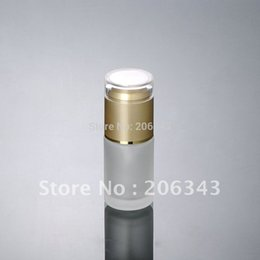 Wholesale Glass Bottle Press Pump - Wholesale- 30ml frosted glass with press pump bottle gold lid ,lotion emulsion foundation bottle , Cosmetic Packaging,glass bottle