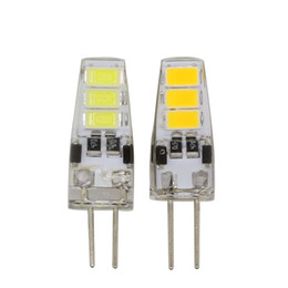 Wholesale 12v dc smd led bulb - Mini G4 LED Bulb DC 12V 3W SMD 5733 G4 LED Lamp light 360 Beam Angle Light replace Halogen G4 for Crystal Chandelier