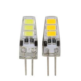 Wholesale 12v Mini Led Bulbs - Mini G4 LED Bulb DC 12V 3W SMD 5733 G4 LED Lamp light 360 Beam Angle Light replace Halogen G4 for Crystal Chandelier