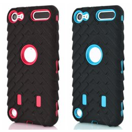 Wholesale Cars Tyres - Tire tyre Vroom Hard PC Plastic+Soft Hybrid Layer Case For Ipod Touch 6 6G 6th 5 5th Ipod6 Ipod5 Dual Color Car Tire Shockproof Skin