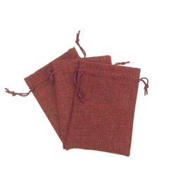 Wholesale Plastic Sack Bags - Qumei 50pcs Small Vintage Jute Burlap Bag with drawstring can custom logo Natural Gunny Sacking Pouches