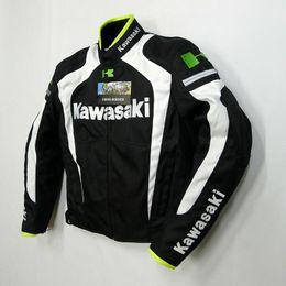 Wholesale Road Racing Clothing - new style kawasaki breathable Running jackets motorcycle jackets race jackets knight off-road jackets motorcycle clothing windproof k-4