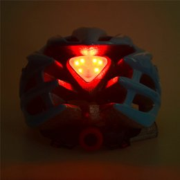 Wholesale Led Safety Helmets - Men Women Cycling Helmet Road Bike Bicycle Riding Safety Helmets Protective Gear with LED Tail Light 5Colors Size L(58-62cm)