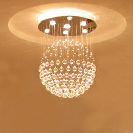 Wholesale Globe Sphere - For foyer bedroom living usage dinning vintage vintage modern round ball sphere globe global crystal LED ceiling light lamp