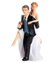 Wholesale Wedding Figurines Gifts - Playful Football Couple Figurine Cake Topper Wedding Topper Wedding Gift Cake Topper Wedding Cake Decorations 2016 June Style