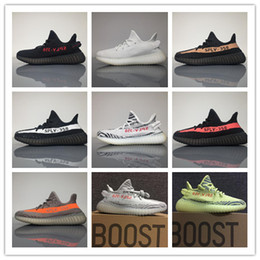 Wholesale Infant Fabrics - 2017 SPLY 350 V2 Boost Mens and Womens Running Shoes Boost 350 V2 SPLY Zebra Orange Grey Black Red Infant Sneakers With Original Box