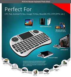 Clavier souris noir en Ligne-RII I8 Remote Fly Air Mouse mini Clavier Combo Sans fil 2.4G Touchpad Clavier pour MXQ MXIII MX3 M8 CS918 M8S Bluetooth TV BOX Noir Blanc