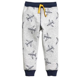 Wholesale Warm Pants For Kids - New Boys clothing Sweatpants Plane Winter Warm cotton Casual pants Trousers for middle kids Draw cord Boutique Children clothing 2-7T