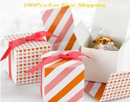 2019 confezione regalo arancione Scatola di caramelle unica di Reversible Hearts Wrap Scatole arancione / rosa Per scatola di cioccolatini e scatola di regali (100 Pz / lotto) Scatola di favore per feste Spedizione gratuita sconti confezione regalo arancione