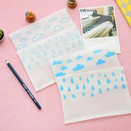 Wholesale Paper Vegetables - Wholesale- 12pcs lot Vegetable Parchment Envelope Hand Painting New Cloud Rain Weather Semitransparent Kraft Paper Partysu Stationery WZ