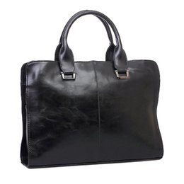 Wholesale Women Shoulder Bags For Work - Aresland Fashion Men's Business Bag Handbag Crazy Horse Leather Male Bag for Work Shoulder Bag Briefcase Portfolio Bolsas Daily