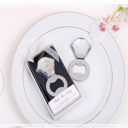 Wholesale Diamond Bottle Opener - Factory directly sale Wedding favor gift raffle birthday diamond ring beer bottle opener Favors