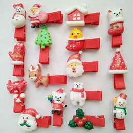 Wholesale Party Babys - 50pcs lot Hot christmas hair bows clips accessories for children girls fashion kids babys cute Hairpin hairclip for xmas party