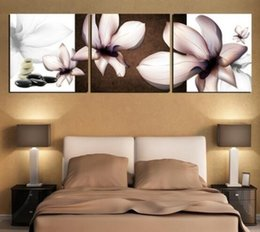 Wholesale High Quality Sheet Sell - 2017 Christmas Gift 3 Piece New High Quality Hot Sell Modern Oil Wall Painting Orchid Flower Home Decorative Cheap Art Picture Paint on Canv