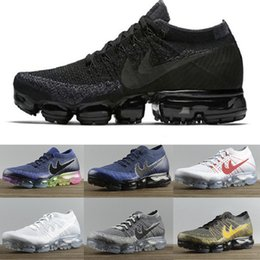 Wholesale Rainbow Sport - 2017 New Rainbow VaporMax 2018 BE TRUE Men Woman Shock Running Shoes For Real Quality Fashion Men Casual Vapor Maxes Sports Sneakers