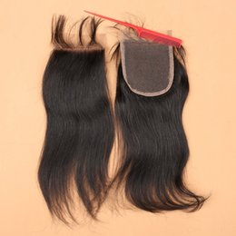 brazilian human hair side closure Coupons - Top Brazilian Virgin Hair Closures Brazillian Straight Lace Closure 3 Free Middle Part Human Hair Closure Piece Clousure Hair