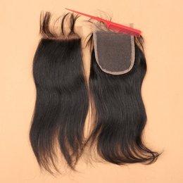 Chiusure brasiliane principali dei capelli del Virgin Chiusura diritta del merletto di Brazillian 3 parte centrale libera dei capelli di chiusura dei capelli umani della parte centrale da merletti della fragola all'ingrosso fornitori
