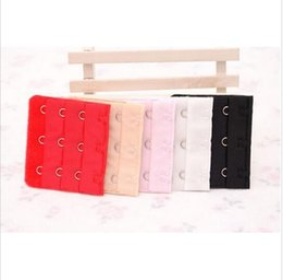 Wholesale Black Bra Extenders - Bra Extender 3 Hooks Adjustable Belt Buckle Strap For Women Lady Bra Accessories