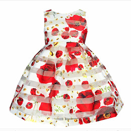 Wholesale Plus Size Christmas Tutu - Summer Flower Baby Girl Dress Princess Tutu Kids Pageant Casual Sleeveless Cute School Girls Dresses Costume Plus Size Zk0549