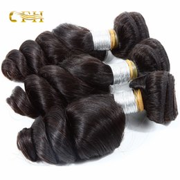 Wholesale Processed Weave Remy - Reasonable price Brazilian non-remy human hair extensions natural color loose wave hair weaves can be dyed to darker color tangle free