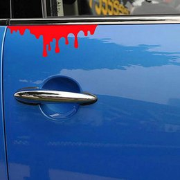 Wholesale Front Window Decal Car - HOT Blood Bleeding Car Sticker Reflective Car Decals Rear Front Headlight Sticker Door Window Car Body 14*5cm order<$18no track