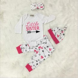 Wholesale Girls Cotton Pajamas Sale - Cute Letter Printed Kids Pajamas Grils Baby Cotton Suits Hat+Top+Pants Hot Sale Cozy Baby Sleepping Suits