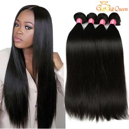 Wholesale Double Weft Weave Straight - Grade 8A Mink Brazilian Straight Hair Weave 100% Unprocessed Brazilian Virgin Hair Straight peruvian malaysian indian Human Hair Extensions