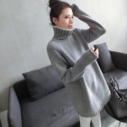 Wholesale Thermal Turtleneck Sweater - Wholesale- Turtleneck sweater women medium-long thermal pullover dress sweater female thickening basic shirt long-sleeve loose sweater
