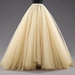 Wholesale Ivory Wedding Dress Petticoat - 2017 Custom Made Color A-line Petticoat Puffy 6 Layers Bridal Accessories Bridal Slip for Wedding Dresses Bridal Underskirt