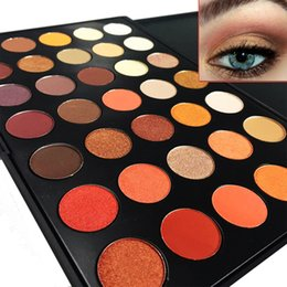 Wholesale Palette Warm Shimmer - Wholesale-Newest 350 Palette 35 Color Eyeshadow Palette Earth Warm Color Shimmer Matte Eye Shadow Cosmetic Beauty Makeup Set